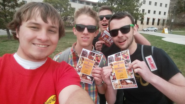 Flyering on Campus